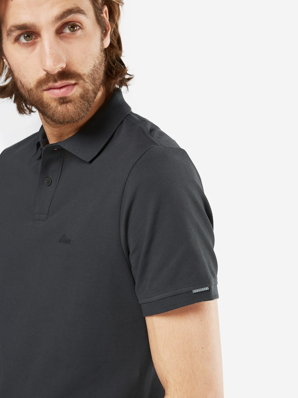 s.Oliver RED LABEL Poloshirt mit Marken Stickerei