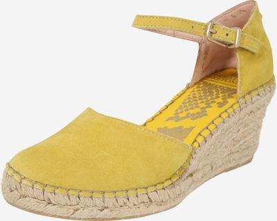 Fred de la BretoniÈre Sandaal in de kleur Geel, Productweergave