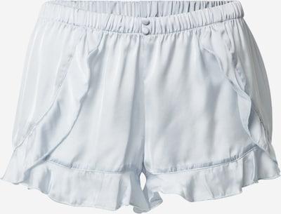 Hunkemöller Pantalon de pyjama 'Short Satin Flounce' en bleu clair, Vue avec produit