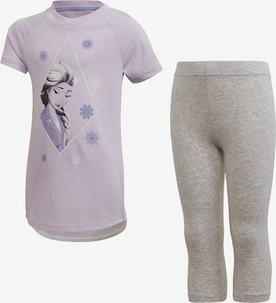 ADIDAS PERFORMANCE Trainingsanzug 'Frozen' in grau / lila / weiß, Produktansicht