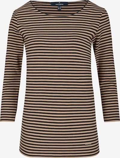 DANIEL HECHTER Shirt mit Rundhalsausschnitt in hellbraun / schwarz, Produktansicht