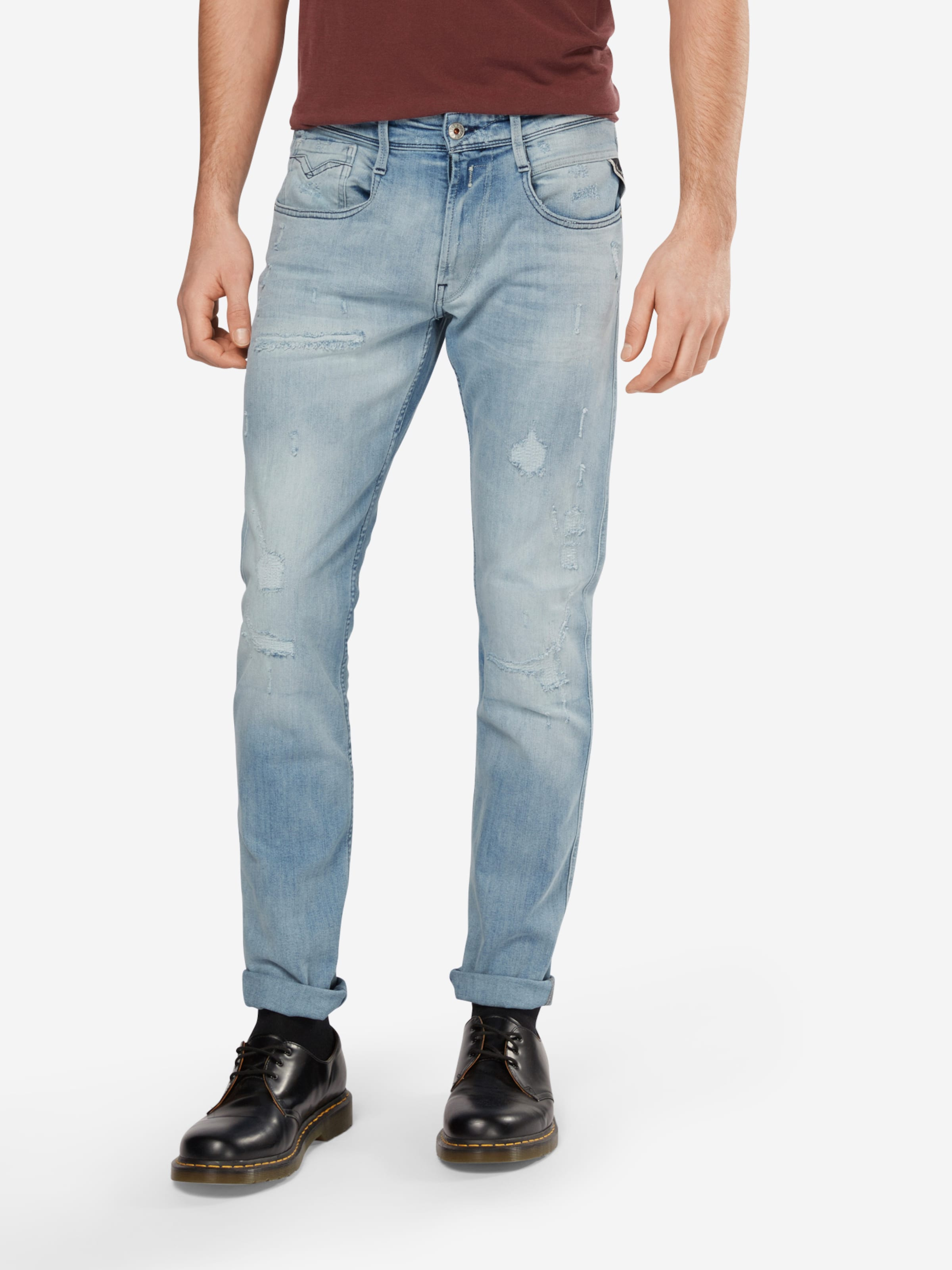 REPLAY Jeans im Used-Style 'Anbass' Auslass Original Spielraum Angebote Online-Verkauf Offiziell Footlocker Online Bx7mfb