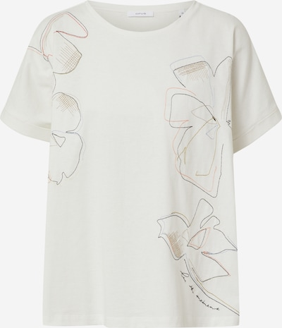 OPUS Shirt 'Sunda stitch' in mischfarben / weiß, Produktansicht