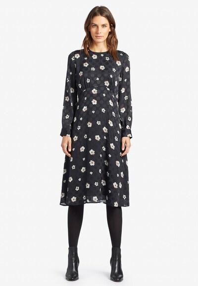 khujo Kleid 'Potata' in schwarz / weiß, Modelansicht