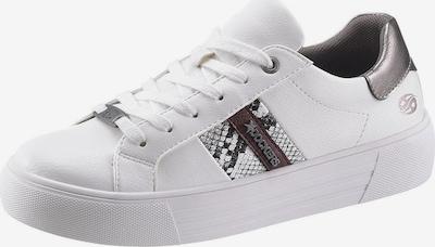 Sneaker low Dockers by Gerli pe gri / gri argintiu / roşu închis / alb, Vizualizare produs