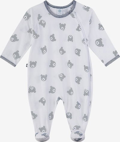 Sanetta Kidswear Strampler in taubenblau / weiß, Produktansicht