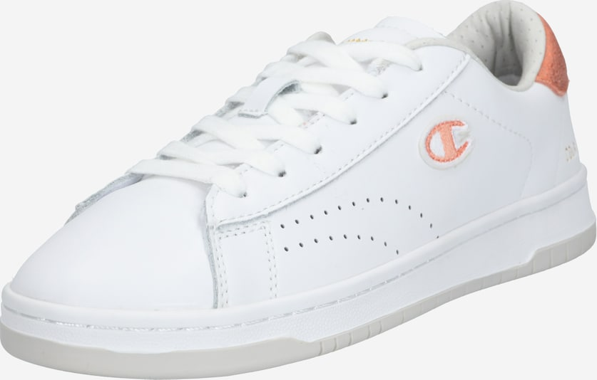 Champion Authentic Athletic Apparel Sneakers laag 'COURT CLUB PATCH' in de kleur Perzik / Wit, Productweergave