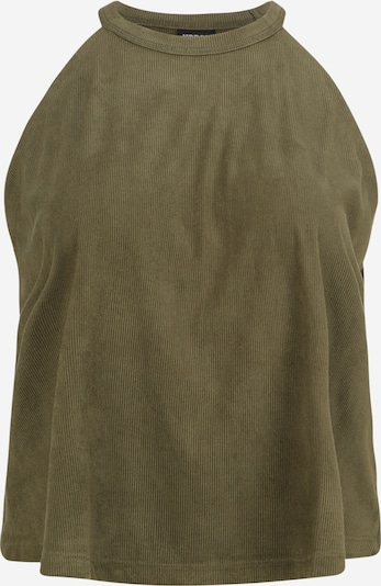 Urban Classics Curvy Top 'Ladies Peached' u maslinasta: Prednji pogled