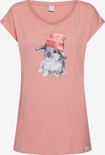 Marškinėliai 'It Hasi' iš Iriedaily , spalva - persikų spalva / omarų spalva: Vaizdas iš priekio