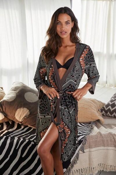LASCANA Kimono in grau / mischfarben: Frontalansicht