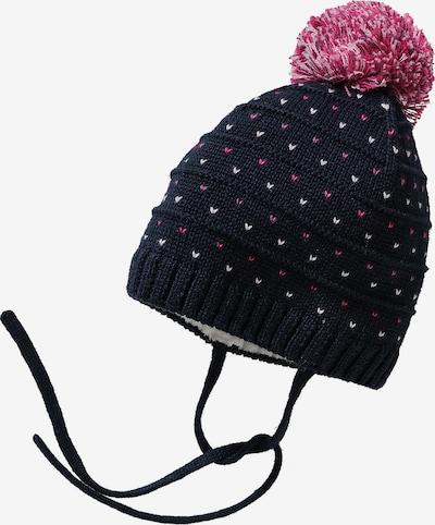 STERNTALER Mütze in kobaltblau / pink / weiß, Produktansicht