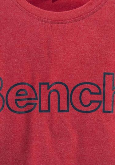BENCH Langarmshirt in rotmeliert, Produktansicht
