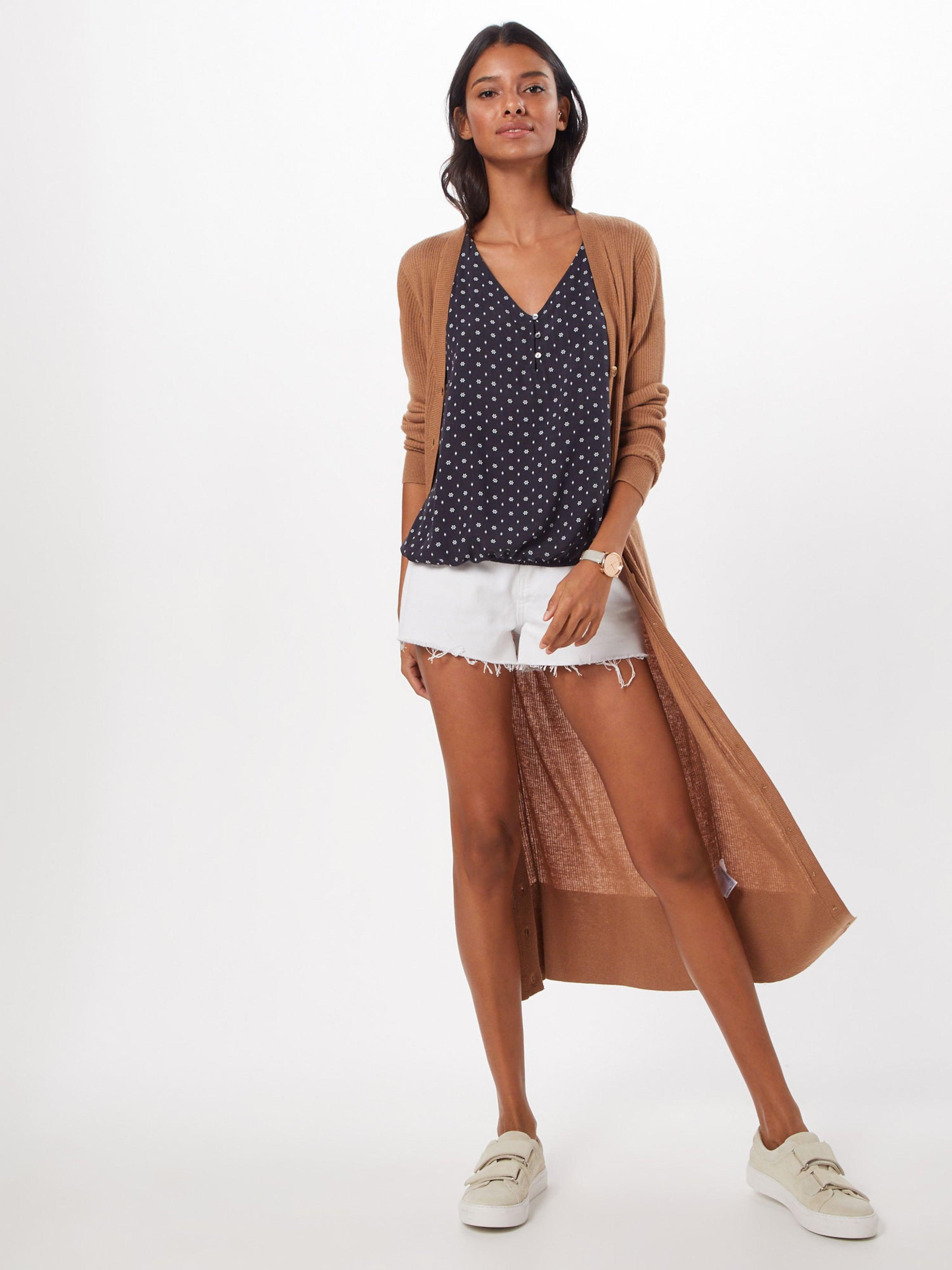 Blouses Woven Esprit Bluse Fluid 'osn Short In Schwarz Visco Sleeve' SzVUpM