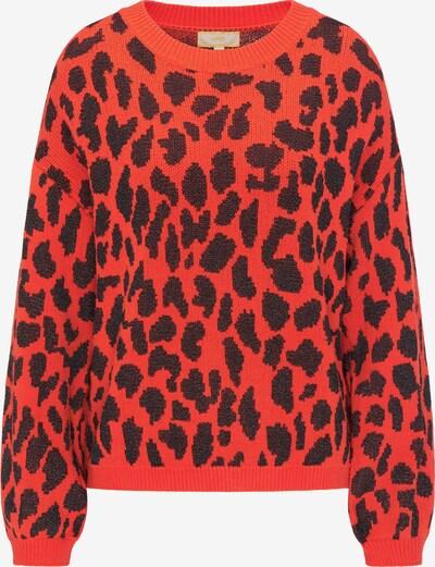 MYMO Pullover in dunkelorange / schwarz, Produktansicht