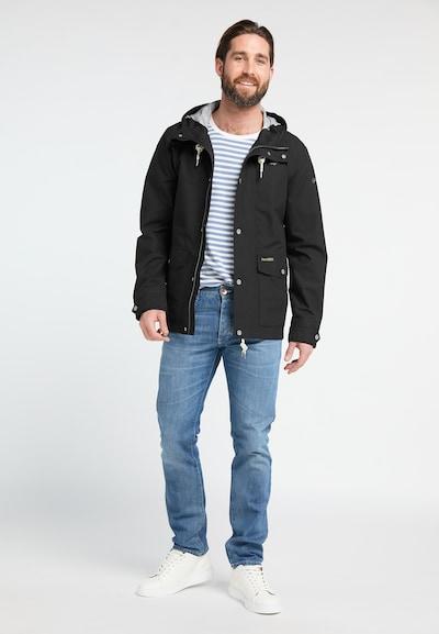 Schmuddelwedda Functionele jas in de kleur Zwart: Vooraanzicht