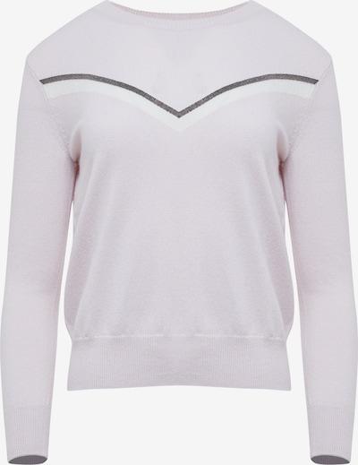 DREIMASTER Pullover in pastellpink / silber / weiß, Produktansicht