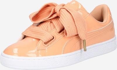 PUMA Sneaker 'Basket Heart' in koralle / weiß: Frontalansicht
