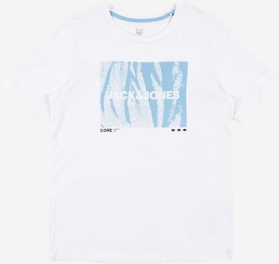 Jack & Jones Junior T-Krekls 'BOOSTER' pieejami debeszils / balts, Preces skats