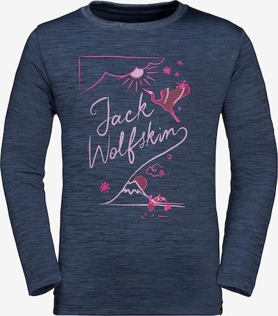 JACK WOLFSKIN Shirt 'Vargen' in blaumeliert / pink, Produktansicht