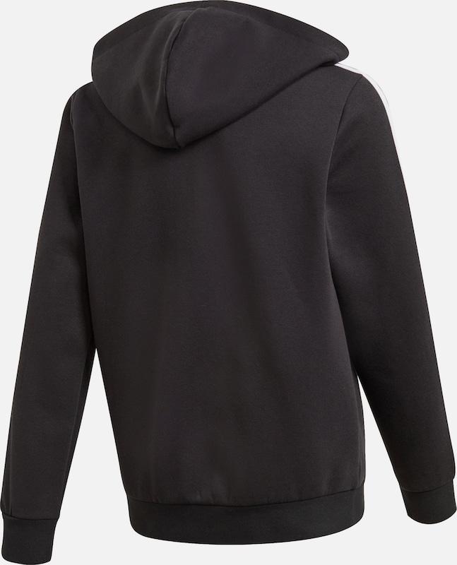 ADIDAS PERFORMANCE Sweatjacke in schwarz weiß | ABOUT YOU