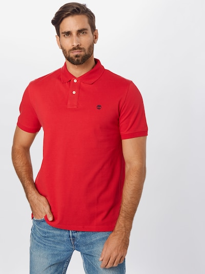 TIMBERLAND Poloshirt 'SS MR polo reg' in rot: Frontalansicht