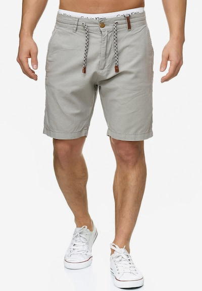 INDICODE JEANS Shorts 'Bowmanville' in hellgrau: Frontalansicht