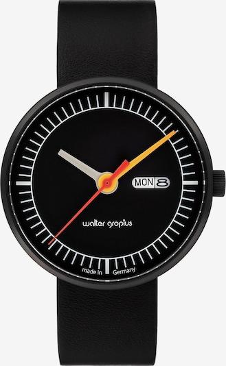 WALTER GROPIUS Uhr in schwarz, Produktansicht