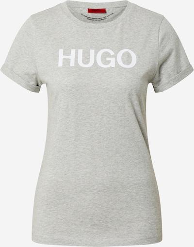 HUGO Tričko - sivá melírovaná / biela, Produkt