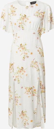MINKPINK Kleid 'FLORAL BEAUTY MIDI DRESS' in gelb / weiß, Produktansicht