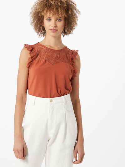 VERO MODA Shirt  'ALBERTA' in rostbraun, Modelansicht