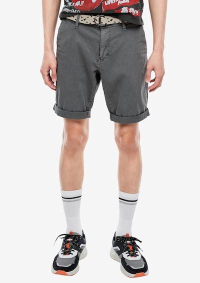 Q/S designed by Chino kalhoty - šedá: Pohled zepředu