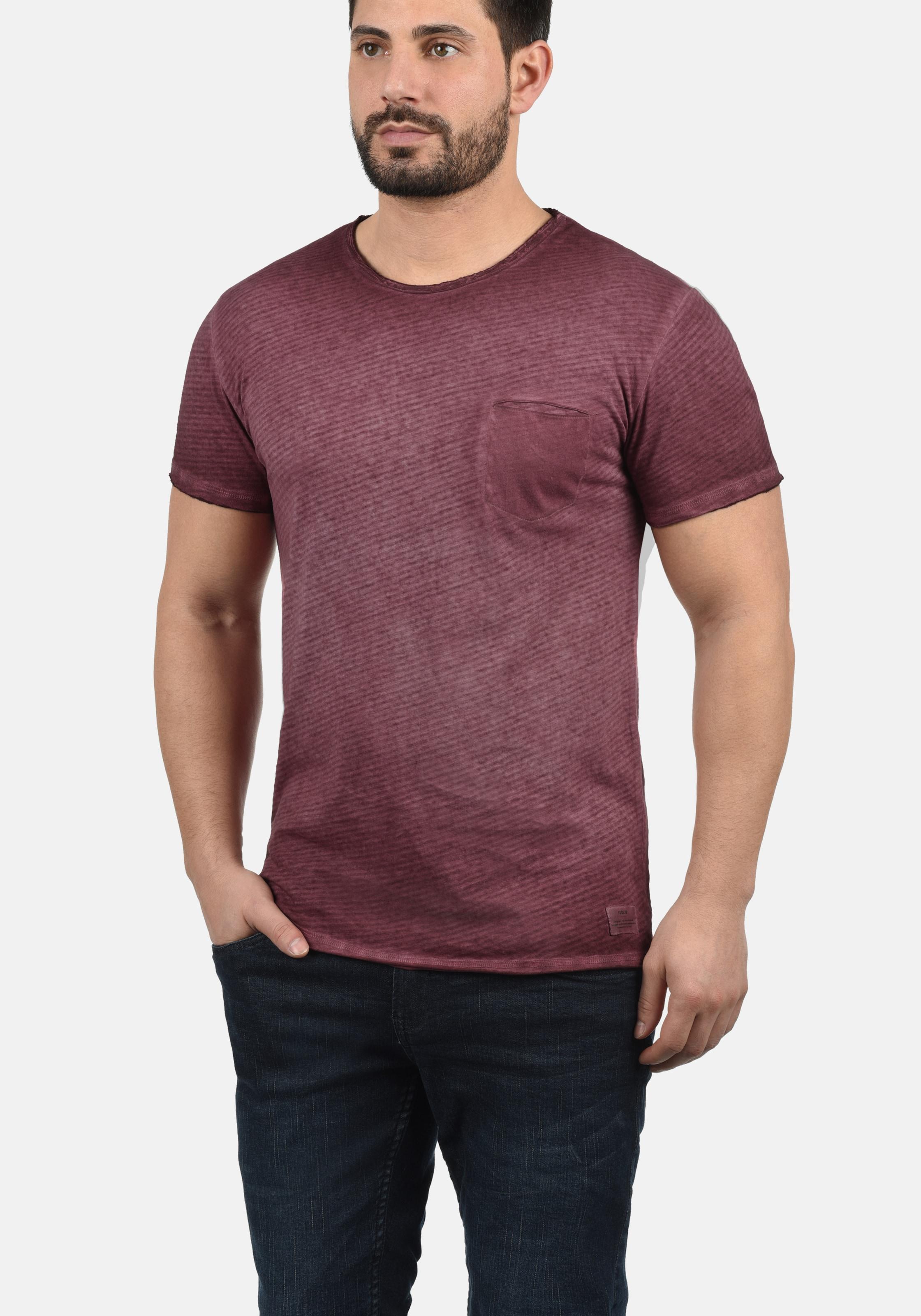 Rundhalsshirt solid solid Weinrot 'roy' Rundhalsshirt In 2IWEDH9