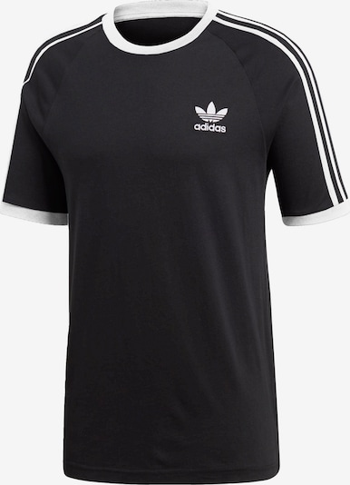 ADIDAS ORIGINALS T-Shirt '3-Stripes' in schwarz / weiß, Produktansicht