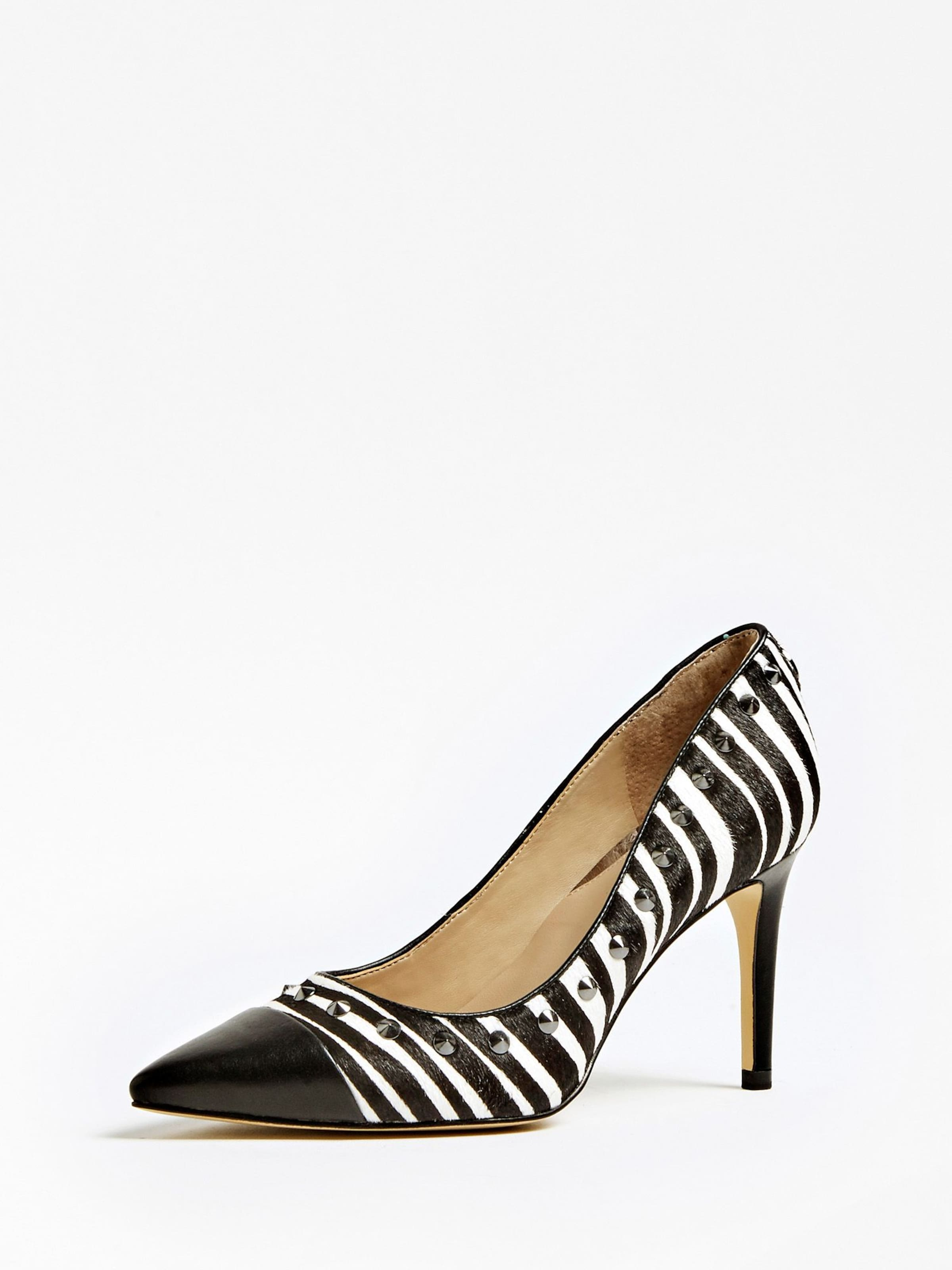 GUESS Pumps 'Boldenly' in schwarz   weiß