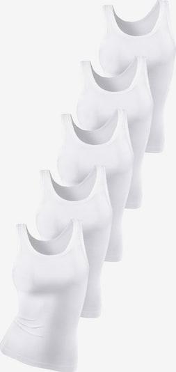 PETITE FLEUR Doppelripp-Tanktop-Unterhemd in weiß, Produktansicht