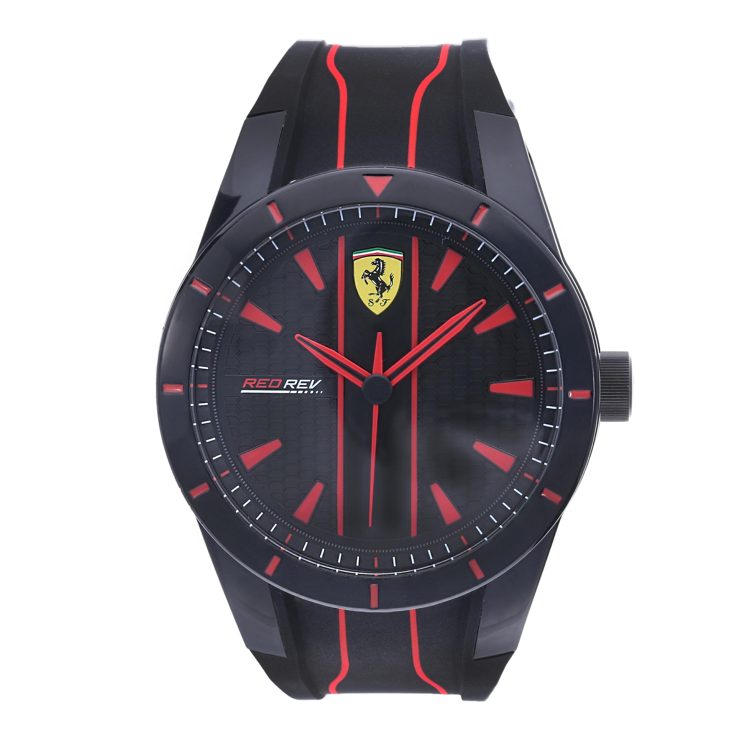 Montre Scuderia Affichage Ferrari 'red À RougeNoir Rev' Analogique En 8ZkwOP0NnX