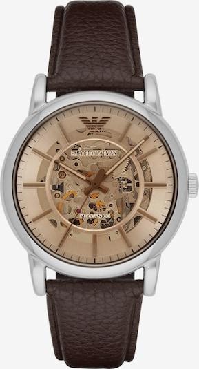 Emporio Armani Uhr in braun / silber, Produktansicht