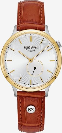 Bruno Söhnle Uhrqua in rostbraun / gold / silber / weiß, Produktansicht