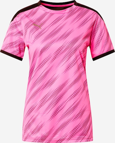 PUMA T-shirt fonctionnel 'FtblNXT' en bleu / rose / noir, Vue avec produit