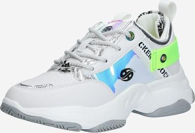 Dockers by Gerli Sneaker in neongelb / mischfarben / weiß, Produktansicht