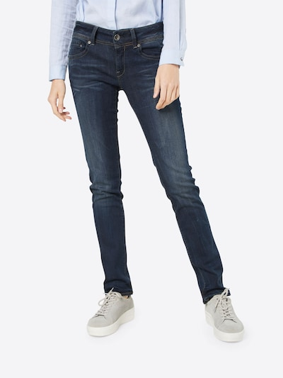 G-Star RAW 'Midge Saddle Mid Straight' Jeans in blau, Modelansicht