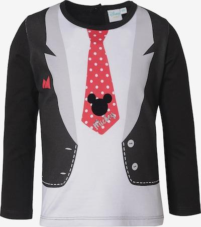 DISNEY Shirt in hellgrau / rot / schwarz / weiß, Produktansicht