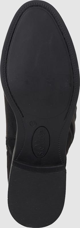 s.Oliver RED LABEL Schuhe   Overkneestiefel aus Kunstleder Schuhe LABEL Gut getragene Schuhe 21bccb