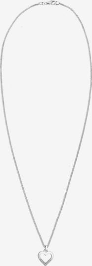 Diamore Kette 'Herz' in silber / weiß, Produktansicht
