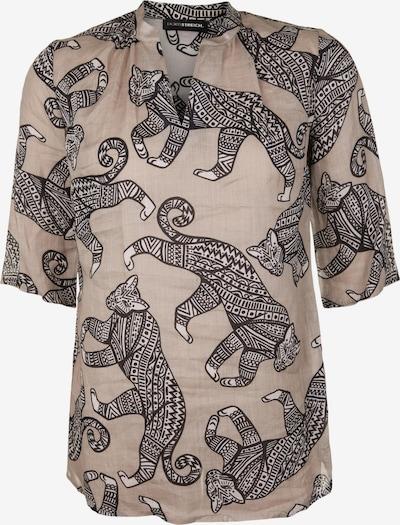 Doris Streich Bluse mit Animal-Ethno-Print in beige / hellbraun, Produktansicht