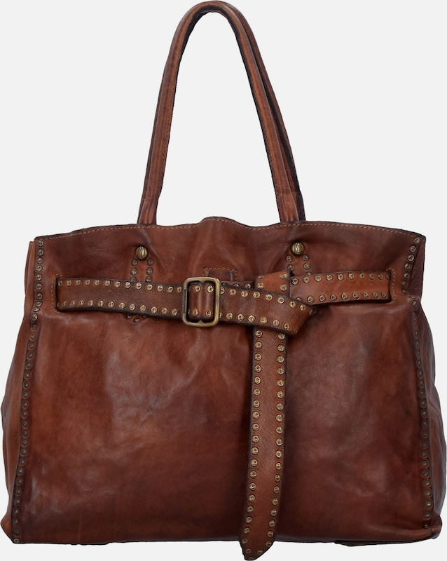 Campomaggi Traditional Schultertasche Leder 35 cm