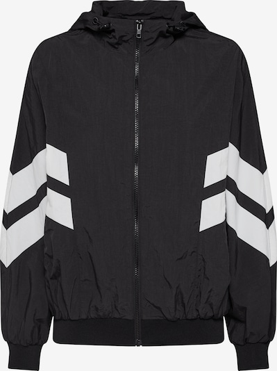 Urban Classics Jacken 'Ladies Crinkle Batwing Jacket' in schwarz / weiß, Produktansicht