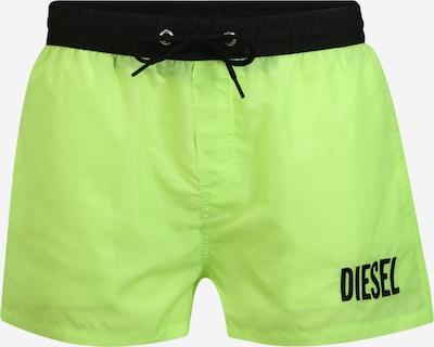 DIESEL Shorts de bain 'BMBX-SANDY 2.017 SHORTS' en vert fluo, Vue avec produit