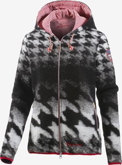Almgwand Walkersdorf Skijacke in schwarz / weiß, Produktansicht