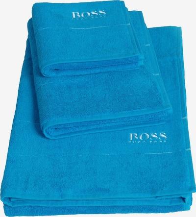 BOSS Home Waschhandschuh 'Plain' in blau, Produktansicht